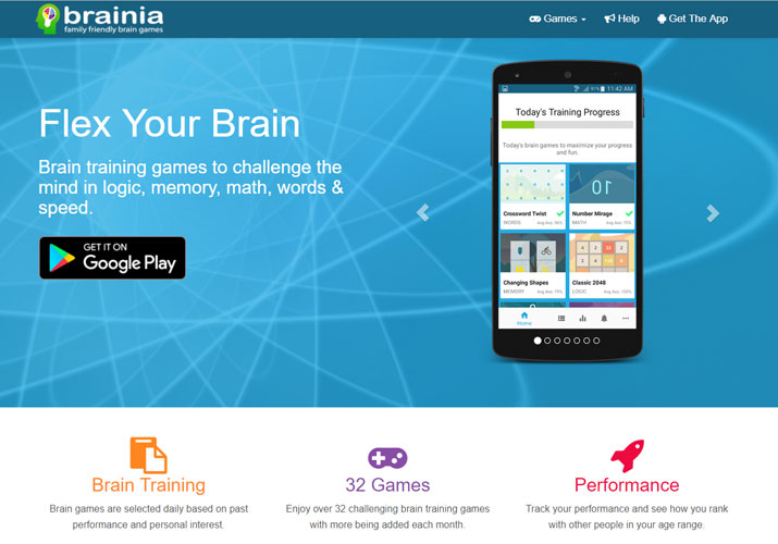 Brainia Brain Training Games Home