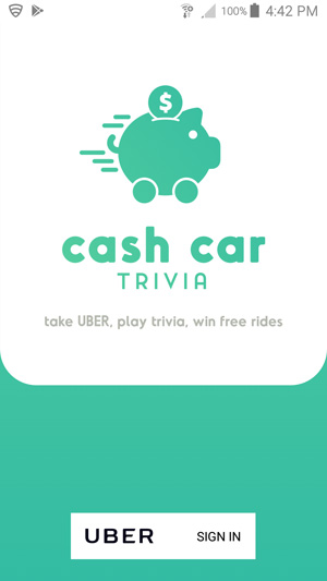 Cash Car Trivia Signin
