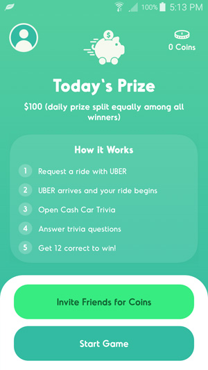 Cash Car Trivia Home