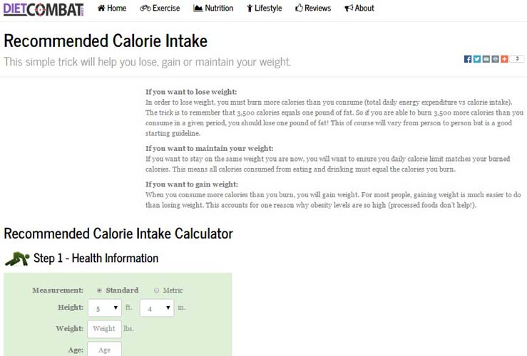 Calorie Intake Calculator