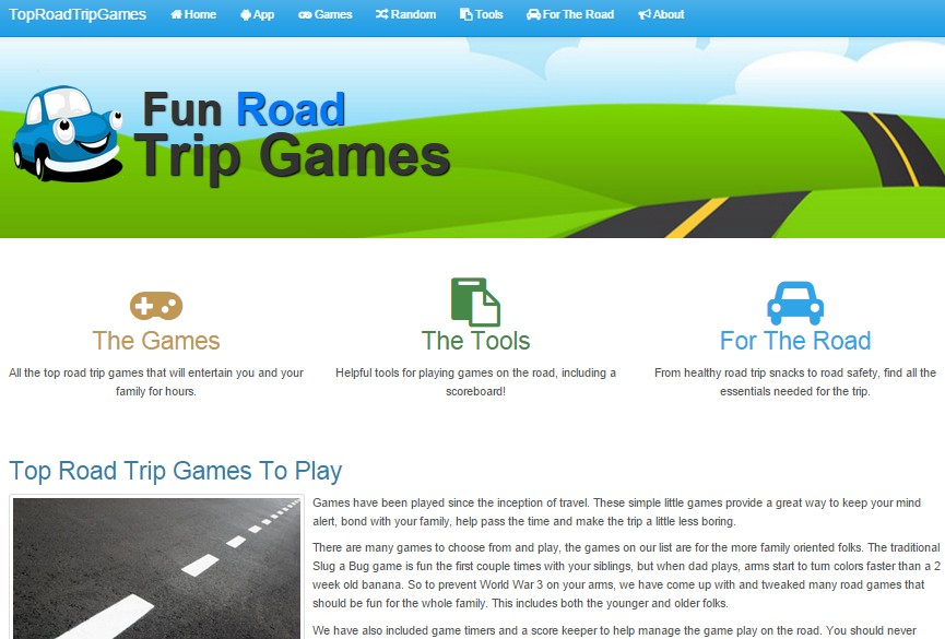 Top Road Trip Games Home